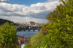 View from Vysehrad after rain.Prague, Czech Republic Royalty Free Stock Photography