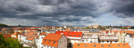 View from Vysehrad after rain, Prague Stock Photos