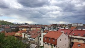 View from Vysehrad after rain.Time lapse stock video footage