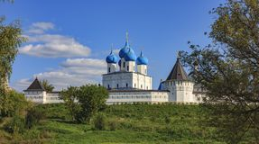View of the Vysotsky Monastery. Royalty Free Stock Image