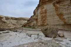 View of Wadi Murabba`at canyon,Judean desert, Israel,Middle East Stock Photography