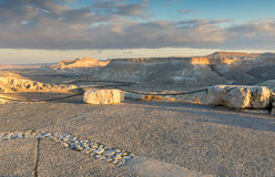 View on Wadi Tzin in desert of the Negev Royalty Free Stock Photography