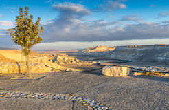 View on Wadi Tzin in desert of the Negev Stock Image