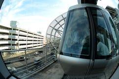 View from the wagon Sky train. Airport Düsseldorf-International Stock Photos