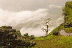 View from Wai to Mahableshwar road. From Maharashtra Royalty Free Stock Image