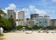 View of waikiki buildings Royalty Free Stock Photos