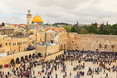 View on the Wailing Wall Stock Photo