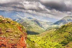 View at the Waimea Canyon  on  Kauai island in Hawaii. Stock Images