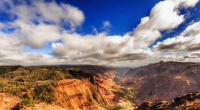 View at the Waimea Canyon  on  Kauai island in Hawaii. Royalty Free Stock Images