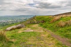 View from Wainman`s Pinnacle, North Yorkshire, England, UK. View from Wainman`s Pinnacle near Cowling, North Yorkshire, England, UK stock photography