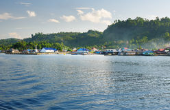 View of Wakai. Togean Islands. Indonesia. Stock Photography