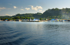 View of Wakai. Togean Islands. Indonesia. Stock Images
