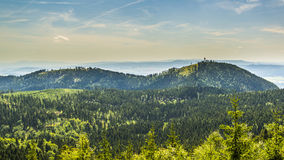 View from Waligora on Spicak. Poland Royalty Free Stock Photo