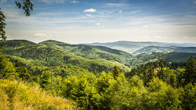 View from Waligora. On Suche Mountains, Poland Stock Photo