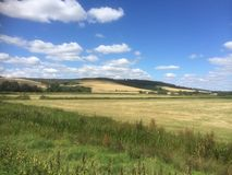The view. Walk and view from amberly  to Arundel West Sussex Stock Photo