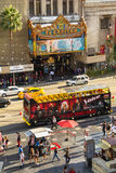 View on the walk of fame from above, Hollywood Stock Photo