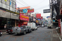 View of Walking Street in Pattaya.Thailand Royalty Free Stock Image