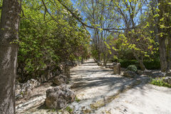 View of walkway next to Rio Castril Royalty Free Stock Images