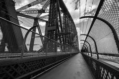 View from the walkway on the Sydney Harbour Bridge. Royalty Free Stock Image