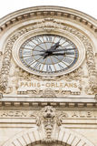View of wall clock in D`Orsay Museum. D`Orsay - a museum on left bank of Seine, it is housed in former Gare d`Orsay Stock Photography