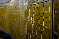 View of a wall of mailboxes Royalty Free Stock Photography