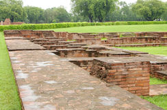 View from the wall of monastery ruins at Sarnath Stock Images