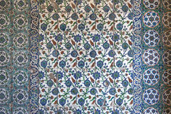 View of wall tiles in Blue Mosque, Istanbul Stock Photos