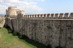 View of wall of Yedikule Fortress Royalty Free Stock Photo