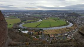 View from the Wallace Monument. The view from the Wallace Monument in Stirling, Scotland Stock Photo