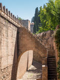 View of walls in Alhambra in Granada  in Spain Stock Photography