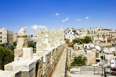 View from the walls of ancient Jerusalem Royalty Free Stock Images