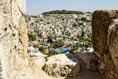 View from the walls of ancient Jerusalem Stock Photo