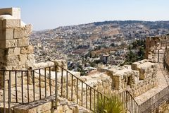 View from the walls of ancient Jerusalem Royalty Free Stock Photo