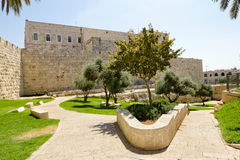 View on the walls of ancient Jerusalem Royalty Free Stock Photography