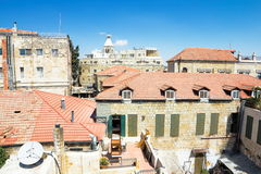 View from the walls of ancient Jerusalem Stock Photos