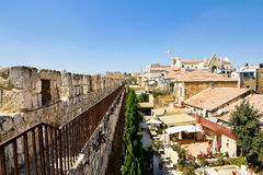 View from the walls of ancient Jerusalem Stock Images