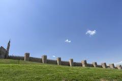 View walls of Avila city in Spain Stock Photos