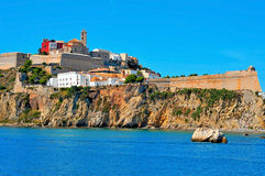 Dalt Vila, the old town of Ibiza Town, in Ibiza, Balearic Island Royalty Free Stock Image