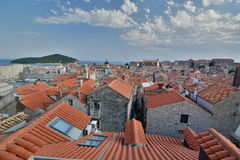 View from the walls. Dubrovnik. Croatia Royalty Free Stock Image