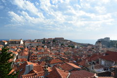 View from the walls. Dubrovnik. Croatia Royalty Free Stock Photography