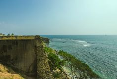 View from walls at fort Galle Stock Image
