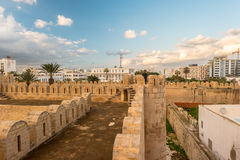 View from the walls of the fortress of Ribat of Sousse in Tunisia. Stock Photography
