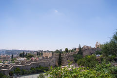 View of the walls in Jerusalem Stock Photo