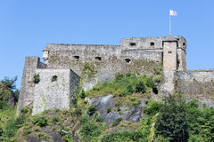 View at walls of medieval Castle Bouillon in Belgium Royalty Free Stock Photography