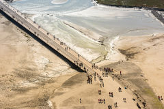 View from walls of Mont Saint Michel, France Stock Photography