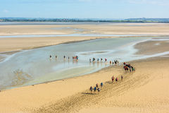 View from walls of Mont Saint Michel, France Royalty Free Stock Images