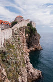 View of the walls of the old city of Dubrovnik, Croatia Stock Photography