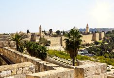 View from the walls of old Jerusalem, Israel Stock Photos