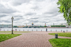 A view from the walls of Peter and Paul fortress. Royalty Free Stock Images