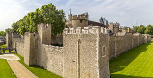 View of the walls of the Tower of London Royalty Free Stock Photography